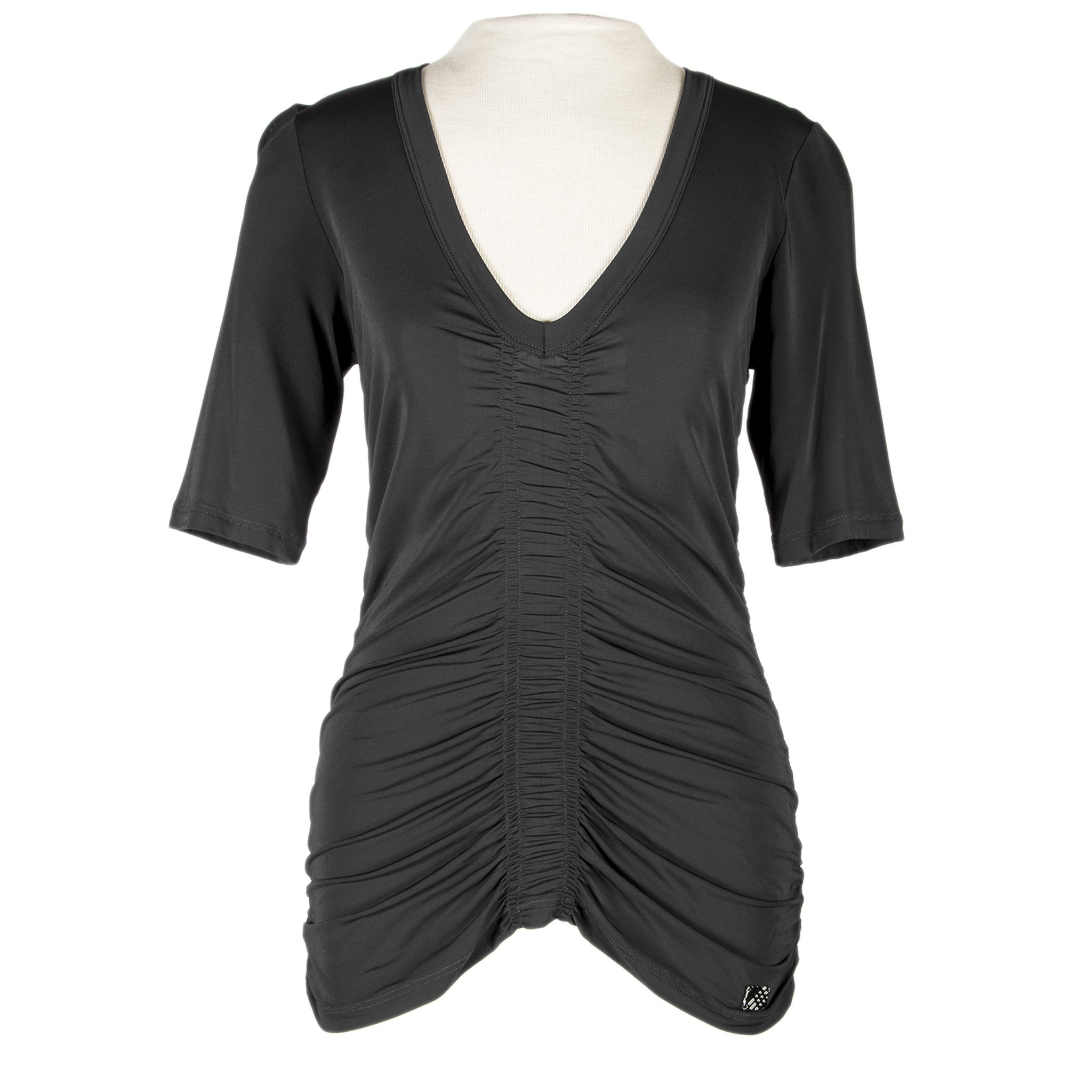 Burberry Women's Ruched Stretch Top Black