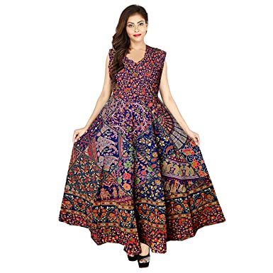 63bfc1ff89 jwf Women s Latest Western Solid Cotton Fit   Flare Semi-Stitched Fabric  for Women - Party Wear A-Line Semi-Stitched Fabric  Amazon.in  Clothing    ...