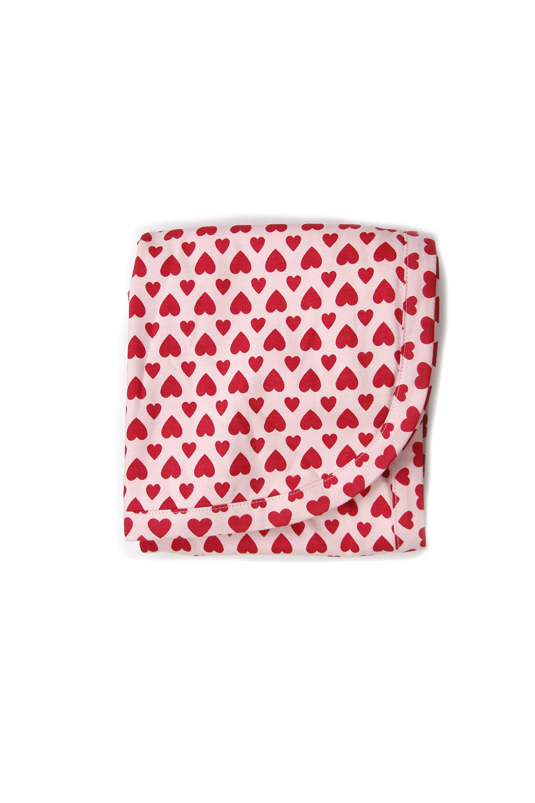 Kate Quinn Organic Unisex-Baby Receiving Blanket, OneSize (Love)