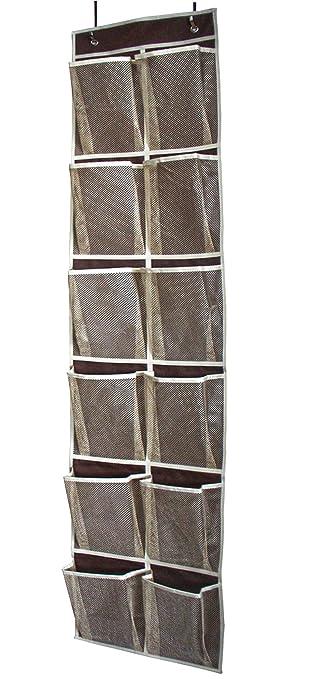 Amazon.com: Misslo Heavy Duty Over Door Organizer For Narrow Door With 12  Mesh Pockets (Coffee): Home U0026 Kitchen