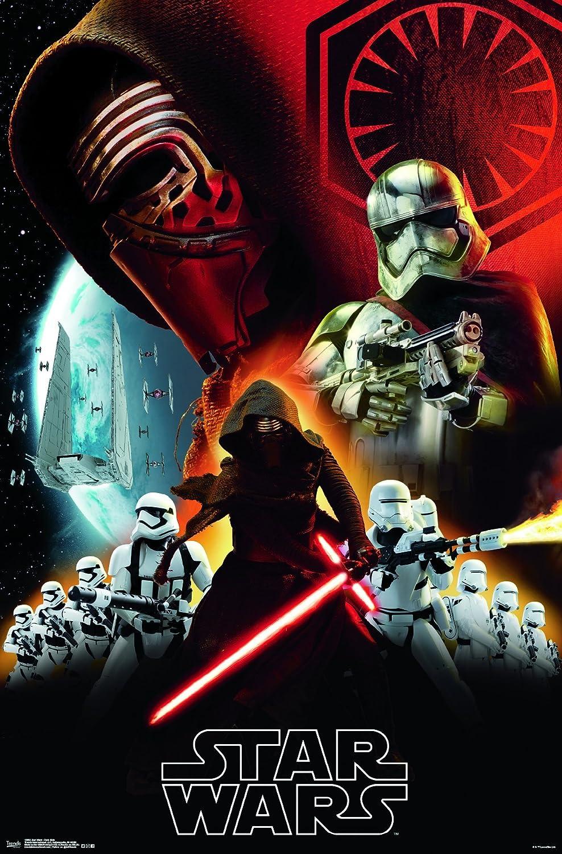 Trends International Wall Poster Star Wars the Force Awakens Dark Side, 22.375 x 34