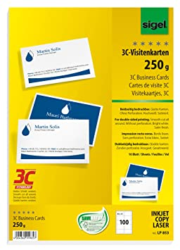 Sigel LP853 Lot De 100 Cartes Visite 3C Impression Recto Verso 8