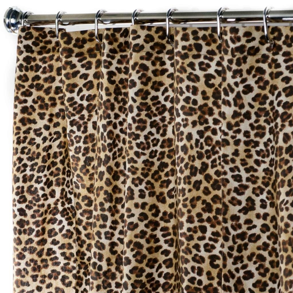Extra Long Shower Curtain Fabric Unique Designer Modern 84 Inches Animal contemporary by Decorative Things
