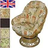 Conservatory Replacement Swivel Rocker CUSHIONS ONLY Wicker Rattan Furniture Gilda® (Poppy Peach)