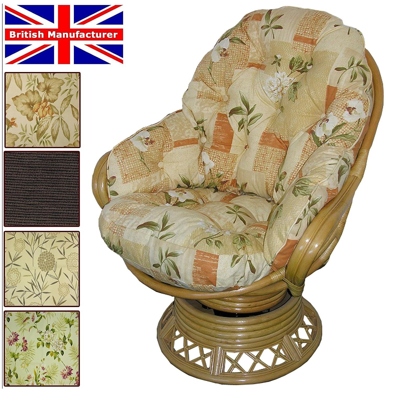 Conservatory Replacement Swivel Rocker CUSHIONS ONLY Wicker Rattan Furniture Gilda® (Bamboo Natural) Gilda Ltd
