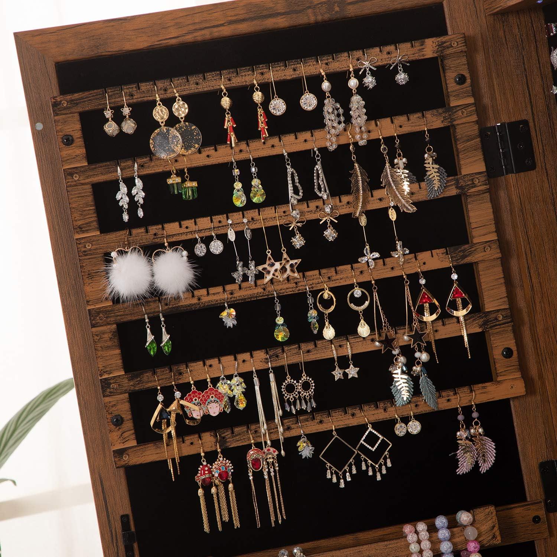 OUTDOOR DOIT 20 LED Lights Lockable Full Mirror Jewelry Organizer ...