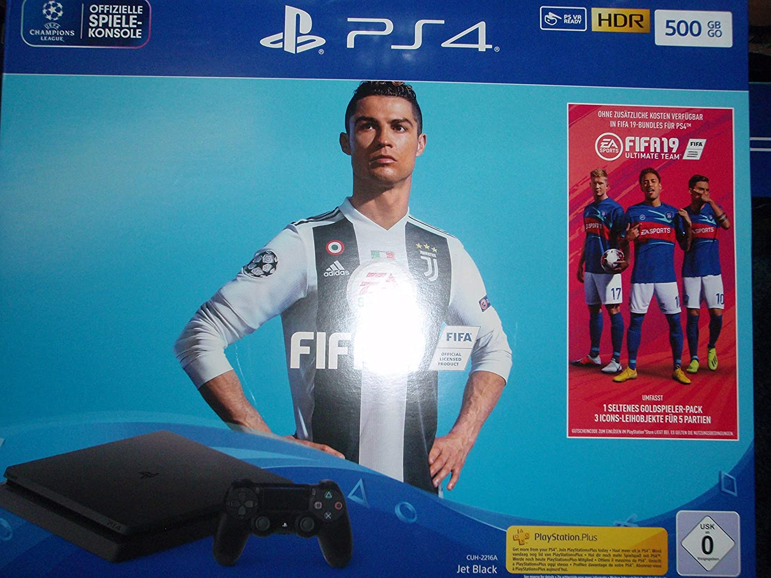 Playstation 4 Slim Konsole PS4 Slim 500GB + Fifa 19 + 14 Tage PS ...