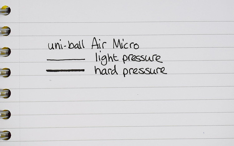 Uni-Ball UB-188-Micro Fountain Pen Tip 0.5mm Air Rollerball Pens Blue Gel 12 Pack