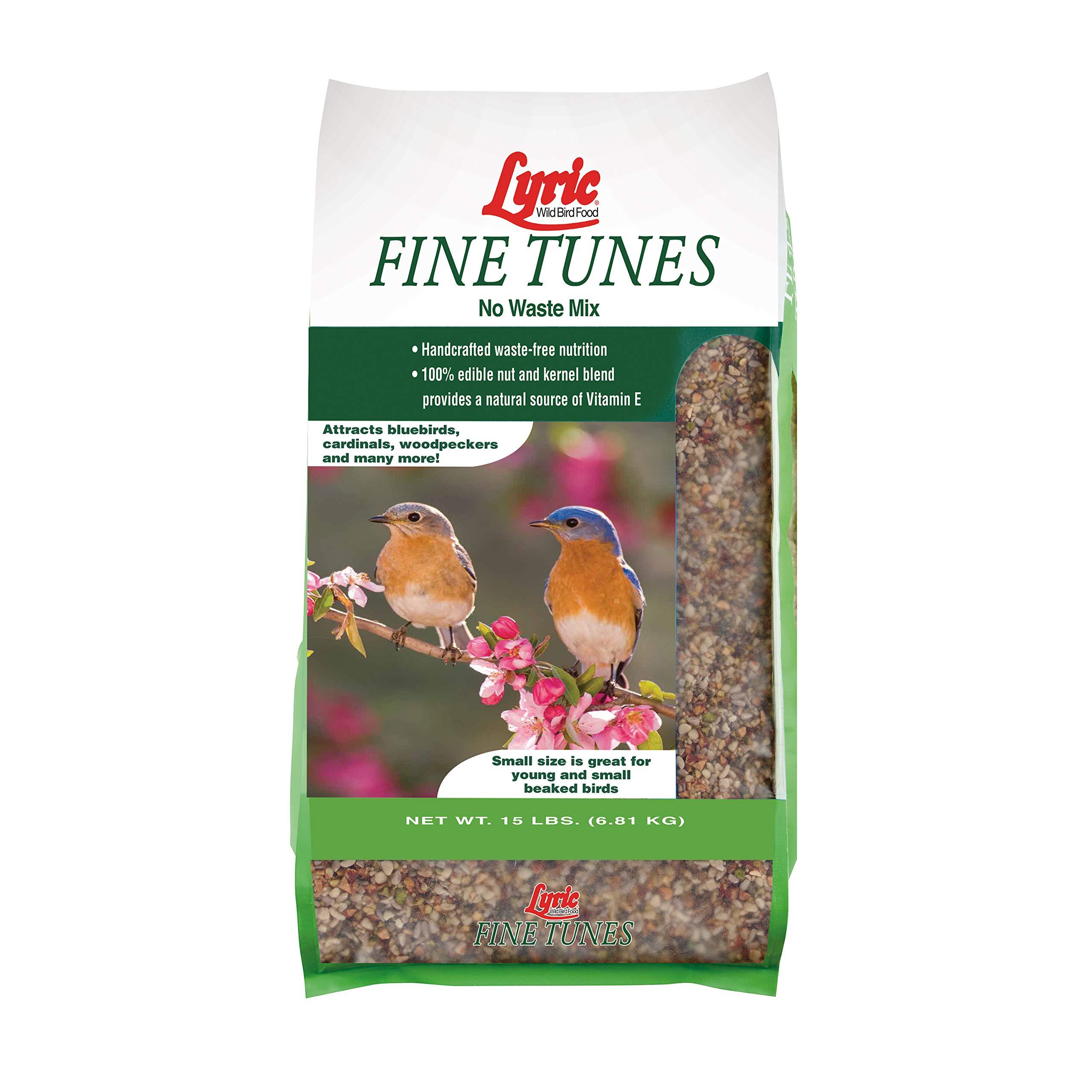 Lyric 2647440 Fine Tunes No Waste Bird Seed Mix, 15 lb by Lyric