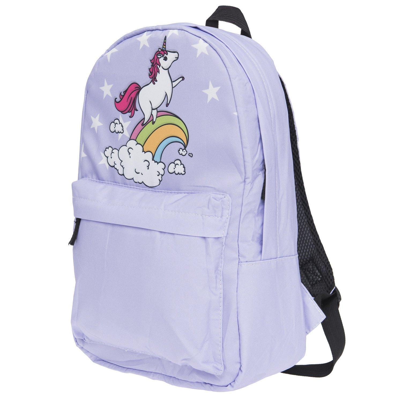 Sac à dos unisexe pour garçons et filles pour école et voyage, sac à dos pour bagage en cabine d'avion, avec beau design de licorne
