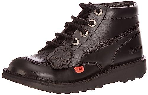 04f10fae81af5 Kickers Unisex Kick Hi Youth Ankle Boots, Black/Black, 6 UK: Amazon ...