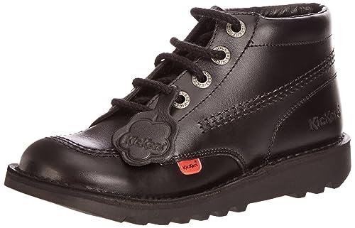 57f756dfe5d5ea Kickers Unisex Kick Hi Youth Ankle Boots, Black/Black, 6 UK: Amazon ...