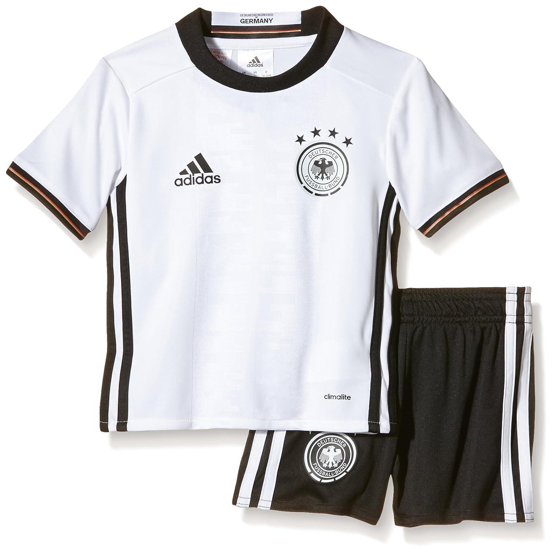 Adidas Kinder Trikot Set Dfb Auswärts Mini Dark Grey Heatheroff