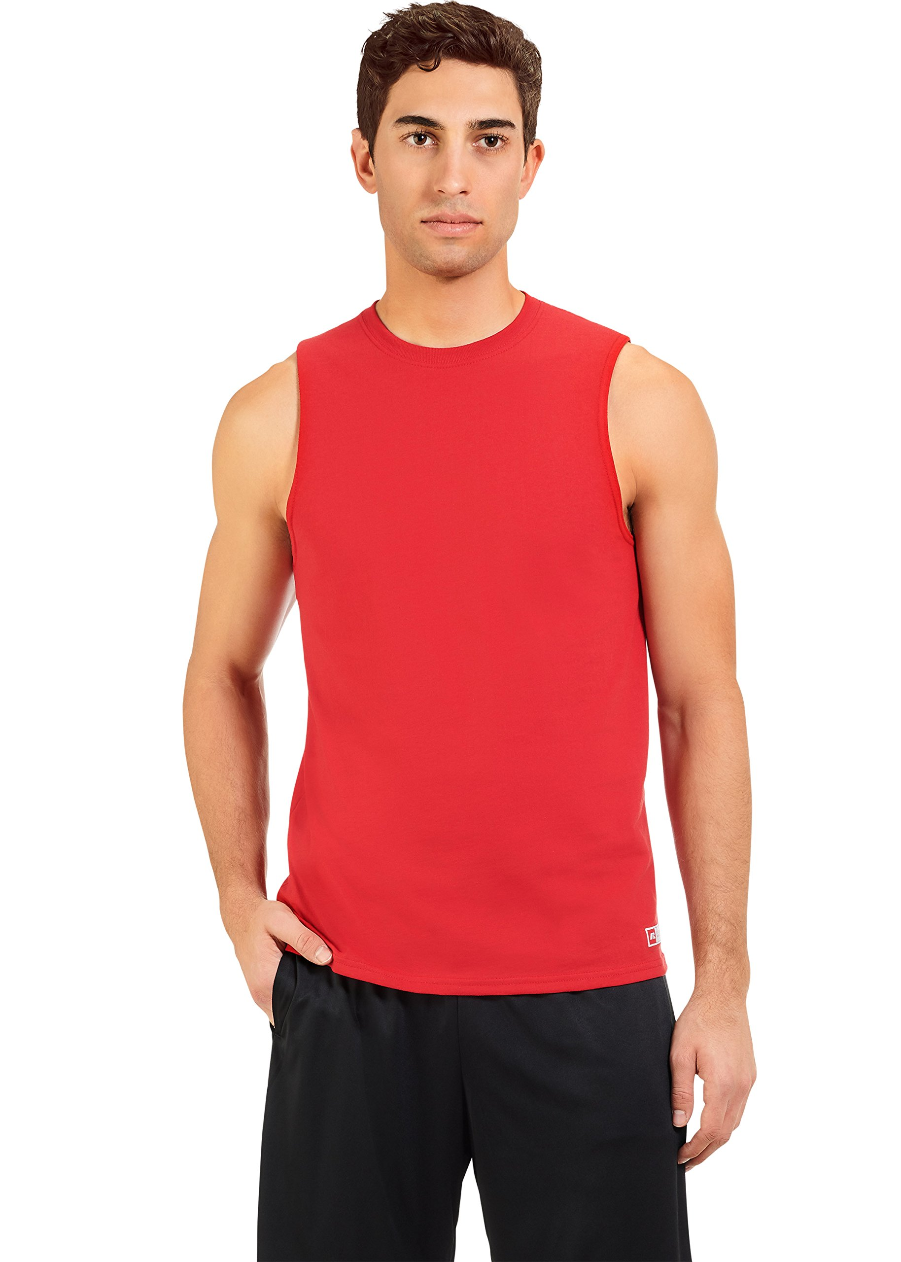 Russell Athletic Men's Essential Muscle T-Shirt,True red,XXXX-Large