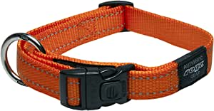 Rogz Reflective Dog Collar, Orange, X-Large
