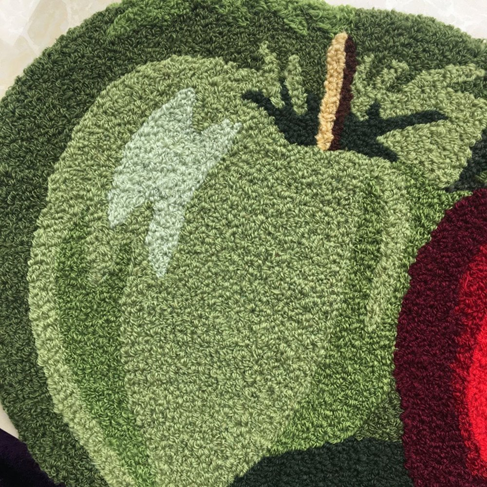 "Abreeze Fruit Rug Apple Orchard Bath Rug/Kitchen Area Rug 17.7""x 31.49"""