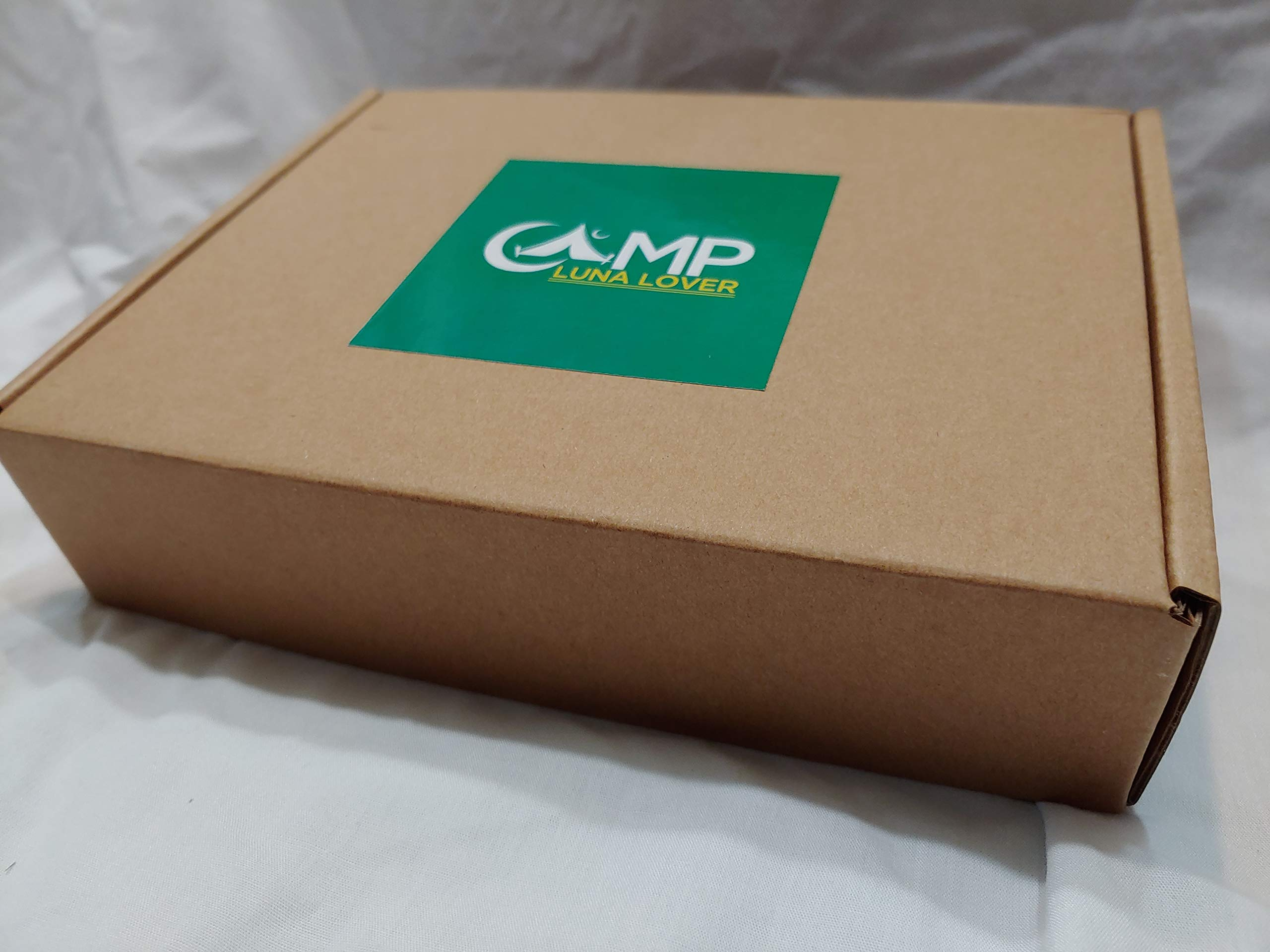 Front, Back AND both Wheel lights AND FREE credit card folding knife from Camp Luna Lover (Green)