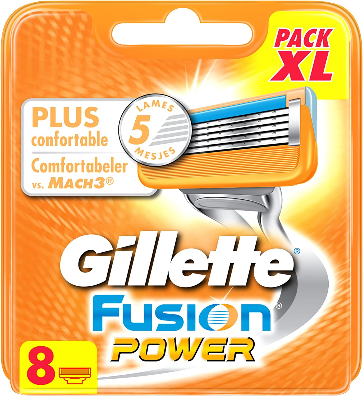 Gillette Fusion Power hojas de afeitar para hombres 8 recargas: Amazon.es: Salud y cuidado personal