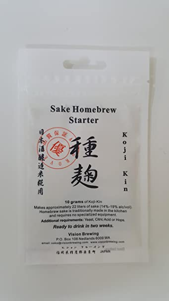 SAKE KIT KOJI KIN STARTER 10g COMPLETE KIT with KOJI, CITRIC ACID AND YEAST  for