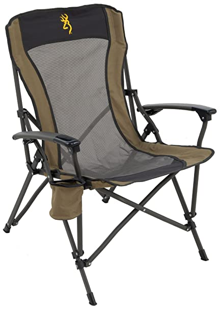Browning Camping Fireside Chair Gold Logo