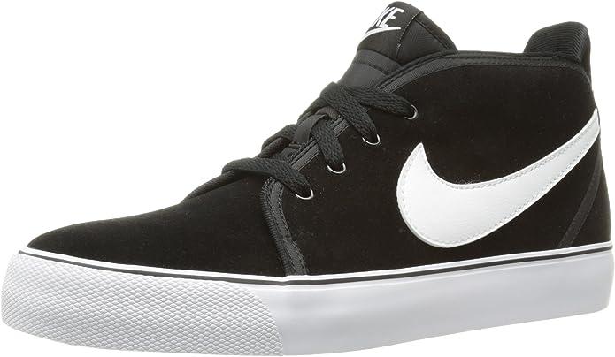 Nike - Zapatillas de caña Alta de Cuero Hombre, Color Negro ...