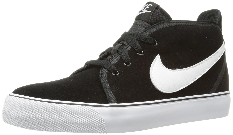Nike Zapatillas de caña Alta de Cuero Hombre, Color Negro
