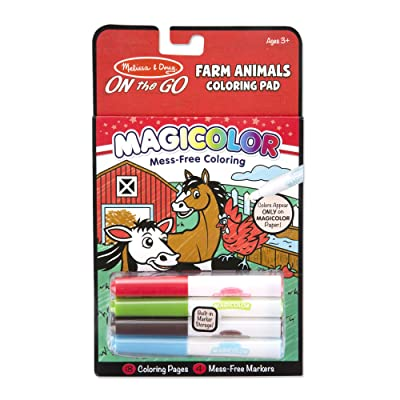Melissa & Doug On the Go Magicolor Coloring Pad: Farm Animals - 18 Pages, 4 Markers (Great Gift for Girls and Boys - Best for 3, 4, 5, 6, 7 Year Olds and Up): Toy: Toys & Games