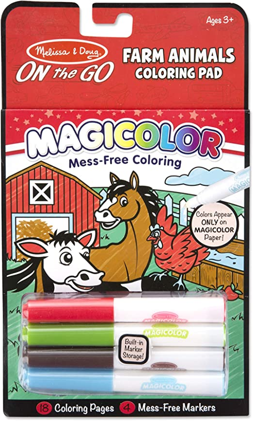 Amazon.com: Melissa & Doug Magicolor Coloring Pad - Farm Animals: Toy: Toys  & Games