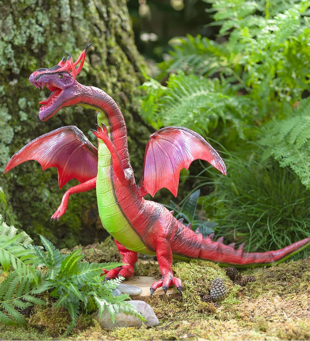 Magic Cabin Posable Red Dragon 26 L X 8 W X 5H