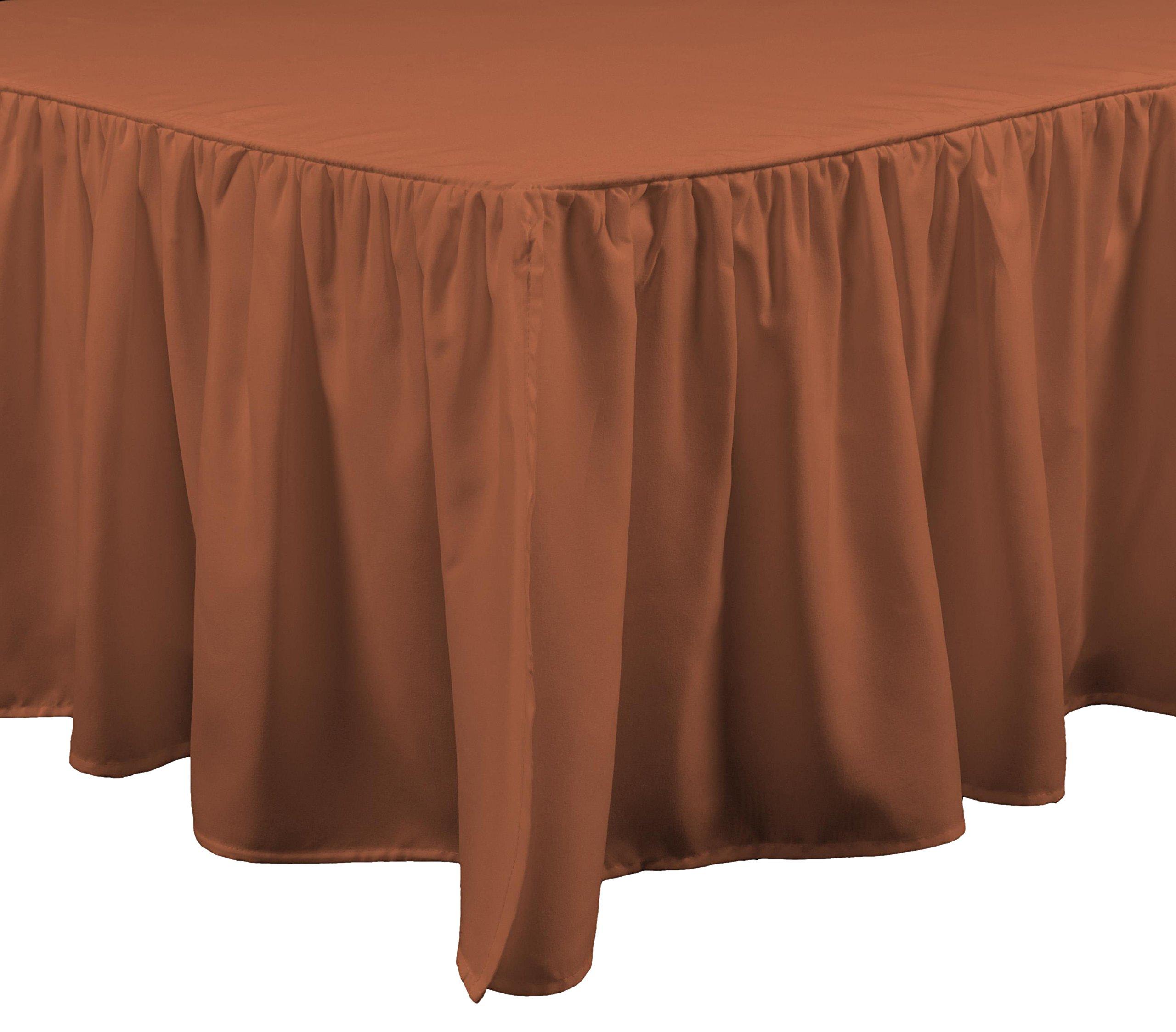 Brielle Casablanca Bed Skirt, Queen, Spice