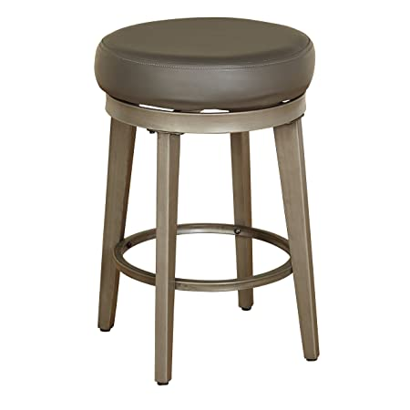Angelo HOME 80924GRY PR Linden Swivel Stool Set of 2, 24-inch