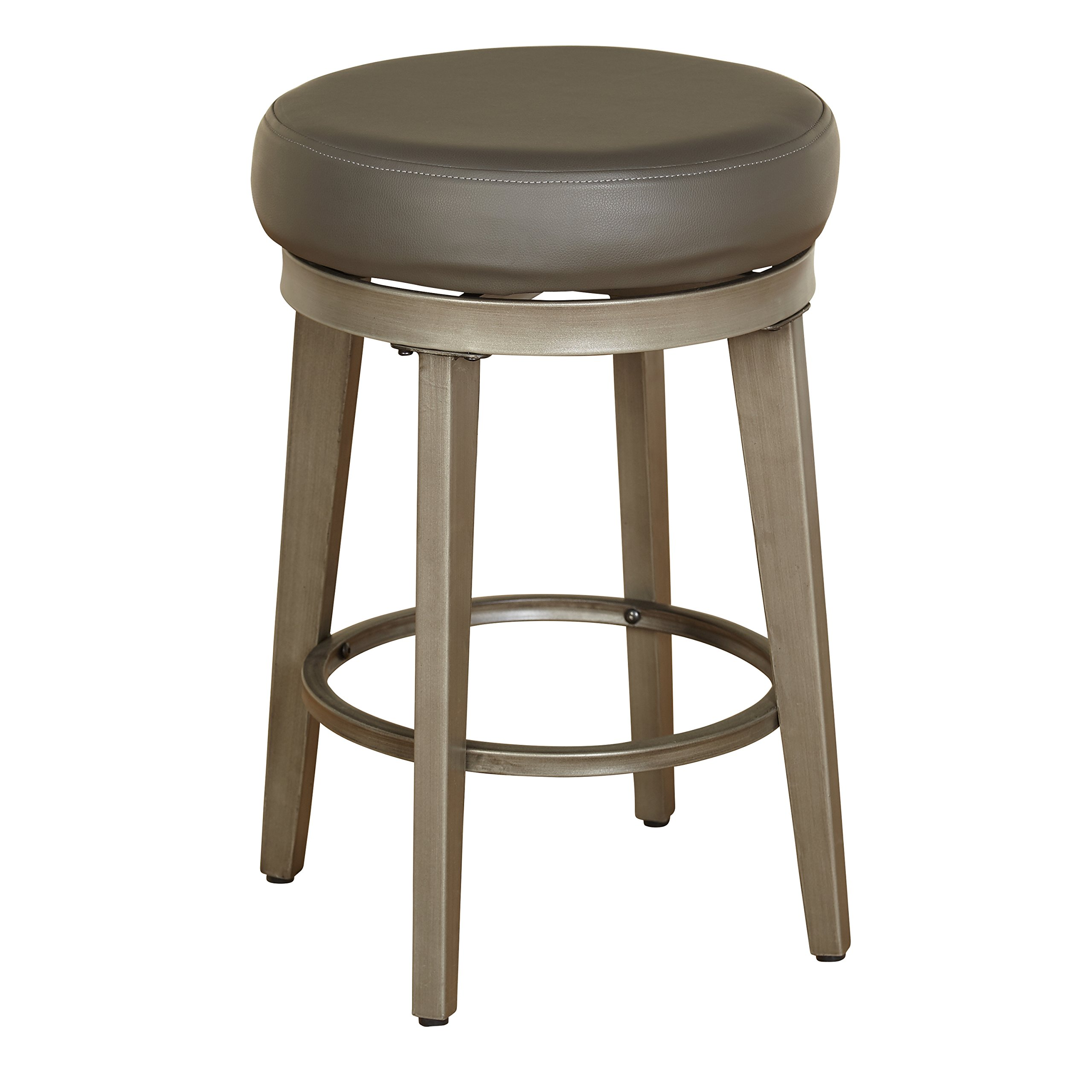 Angelo: HOME 80924GRY PR Linden Swivel Stool Set of 2, 24-inch
