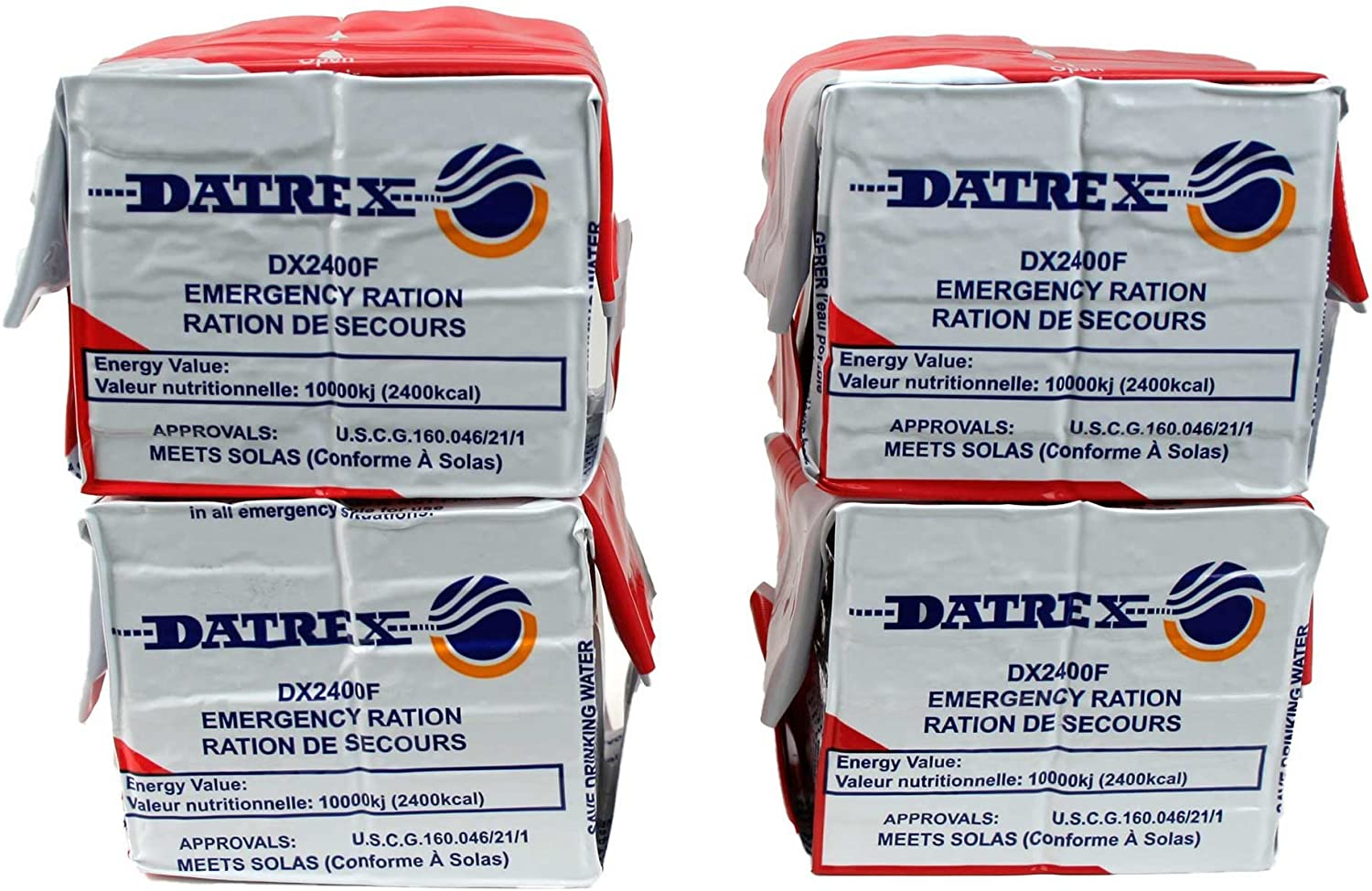 Datrex Emergency Survival 2400 Calorie Food Ration Bars (Pack of 10), 120 Bars