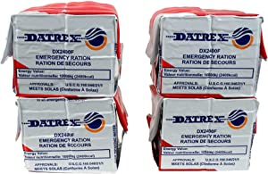 DATREX Emergency Food Ration Bars for Disaster or Survival, 2400 Calories per Pack of 12 Bars