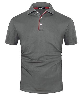 quality design 59a16 b438b Kuson Herren Poloshirt Kurzarm Patchwork Sommer T-Shirt Men's Polo Shirt  Baumwolle