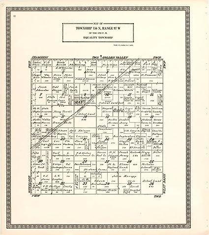 Amazon.com: Historic 1937 Map   Atlas, Williams County ...