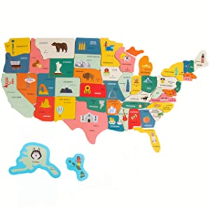 Imagination Generation XL Fifty-Nifty States Magnet Puzzle | Over 2-Foot Magnetic USA Map | Teach Early Learning US Geography & Capitals | Chalk Boards, White Boards, Refrigerators