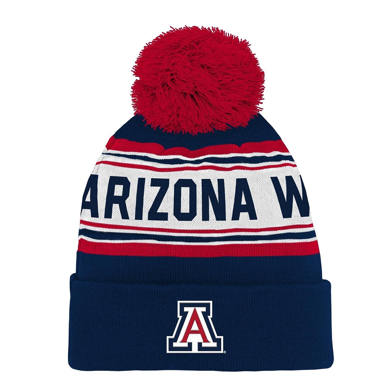 newest cd159 c0754 Amazon.com   NCAA by Outerstuff NCAA Arizona Wildcats Kids   Youth Boys  Jacquard Cuffed Knit Hat w  Pom, Dark Navy, Kids One Size   Sports    Outdoors