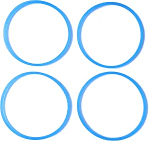 Fab International Replacement Gasket Compatible with Rival Personal Blender Gasket 4 pk Blue (After Market Part)