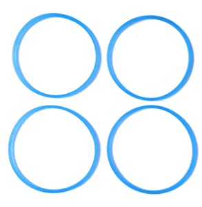 Replacement Gasket Compatible with Cooks 5-in-1 Blender Gasket (4, Blue)