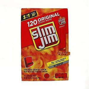 Slim Jim Original Snack Stick 3/$1.00, 120 Count (JERKYS)