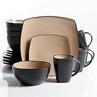 16-Pcs Gibson Elite Soho Lounge Reactive Glaze Dinnerware Set