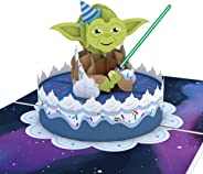 Lovepop Star Wars Yoda Birthday Pop Up Card - Happy Birthday Cards, Star Wars Birthday Card, Cake Greeting Cards, 3D Cards, S