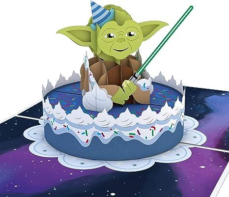 Amazon.com: Lovepop Star Wars Yoda - Tarjeta de felicitación ...