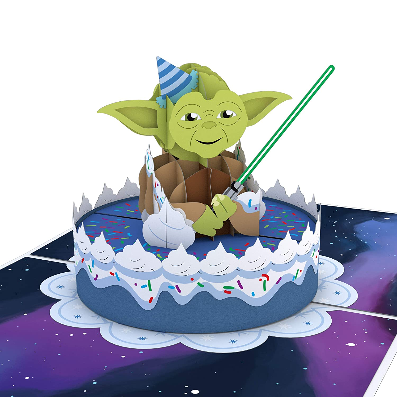 Lovepop Tarjeta emergente 3D de guerra de las galaxia Yoda ...