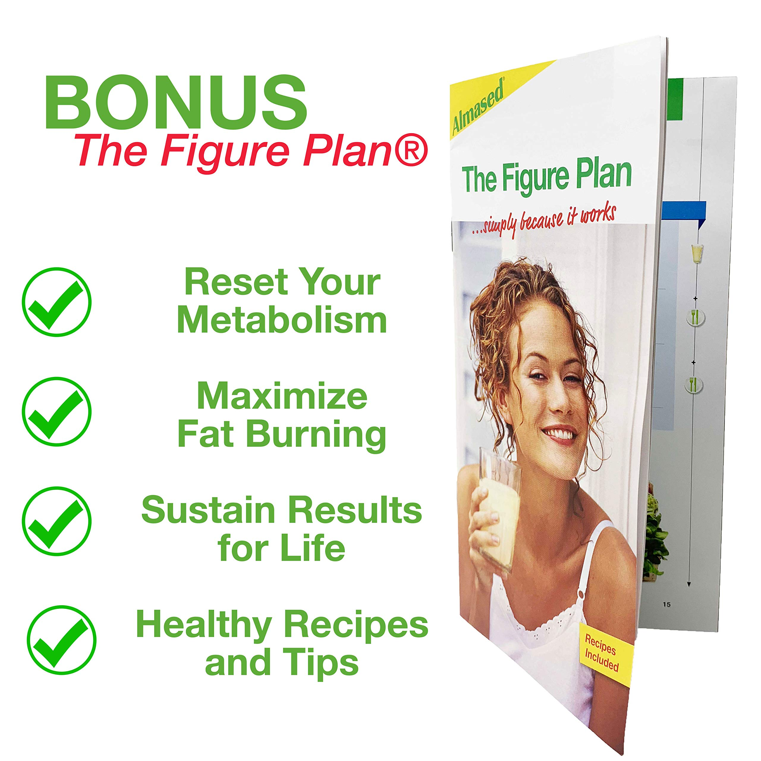 Almased Meal Replacement Shakes -Plant Based Protein Powder - Weight Management Shake and Meal Replacement - All Natural, Gluten Free, No Sugar Added (3 pack Bonus Diet Book and Stress Ball)        by Almased (Image #3)