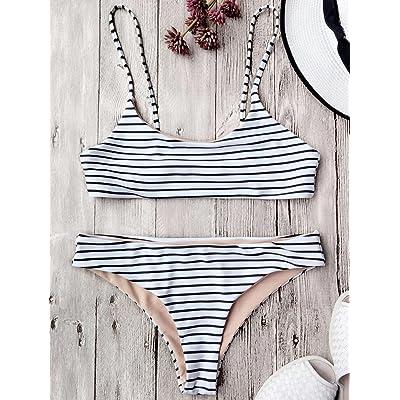 Hôtel moderne et confortable tendance bikini_bandes horizontales est moderne et confortable bikini maillot de split