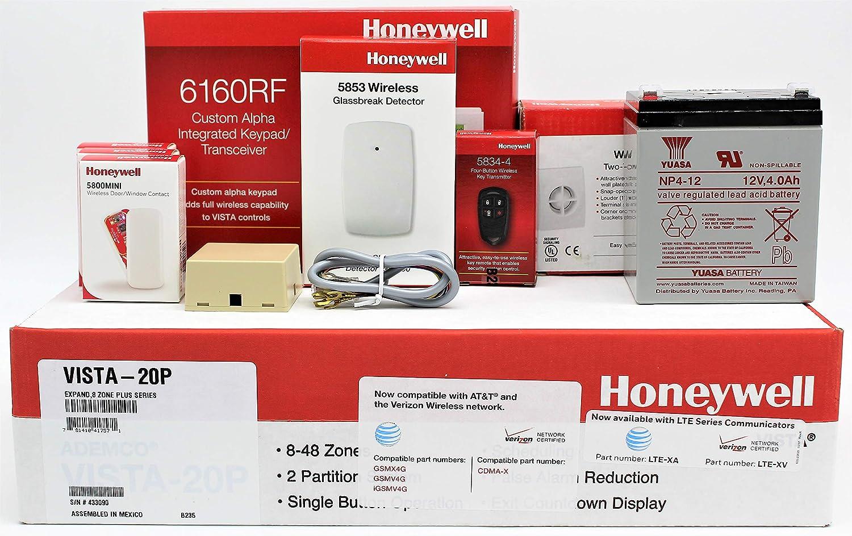 Amazon com: Honeywell Vista 20P, 6160RF Keypad, (3) 5800MINI