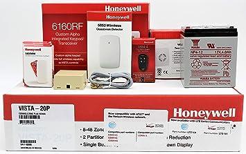 Amazon com: Honeywell Vista 20P, 6160RF Keypad, (3) 5800MINI Door
