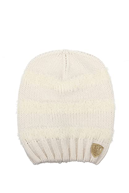 Emporio Armani EA7 women s beanie hat train graphic rapper white UK size S  285388 6A735 00011 3d0cfee2785